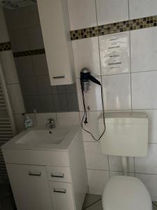 Ein Badezimmer in der Unterkunft Hof Beuck