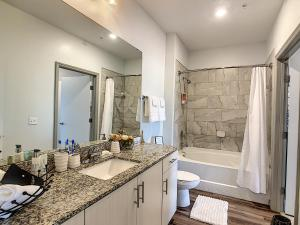 A kitchen or kitchenette at A Luxury Stay, Close to Disney