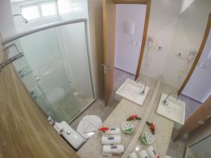 Um banheiro em Hotel Vivenda dos Arrecifes
