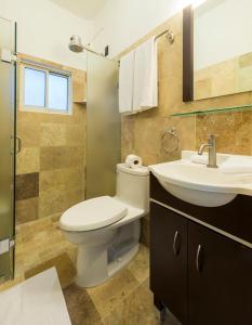 A bathroom at Punto Mita Suites