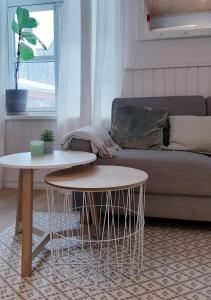 Ein Sitzbereich in der Unterkunft Villa Frieda