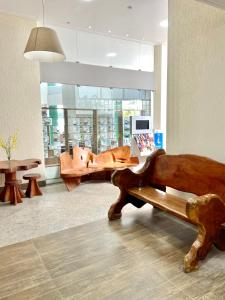 The lobby or reception area at Hotel Porto Salvador