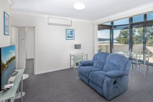 A seating area at The Brighton Apartments