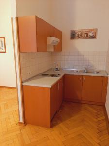 Küche/Küchenzeile in der Unterkunft Altwernigeröder Apparthotel