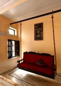 Zona de estar de Kanhaia Haveli