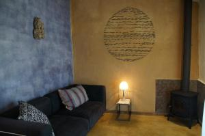 A seating area at Nômade Eco Lodge