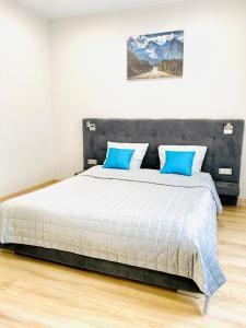 Кровать или кровати в номере Чкалов & Hotel-22