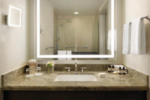 A bathroom at Fairmont Dallas