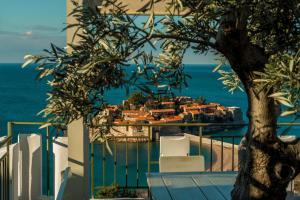 Ein Blick auf den Pool von der Unterkunft Hotel Adrović oder aus der Nähe