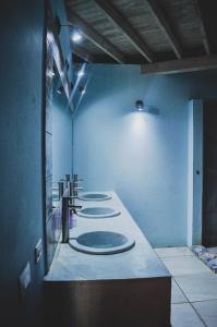 A bathroom at Lost Boyz