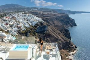 A bird's-eye view of Mythical Blue Luxury Suites