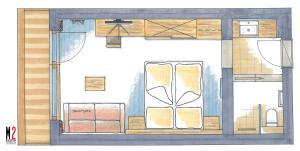The floor plan of Lifthotel