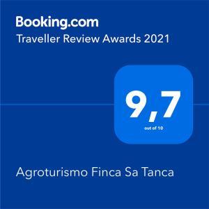 Certificat, récompense, panneau ou autre document affiché dans l'établissement Agroturismo Finca Sa Tanca