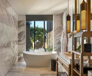 A bathroom at The Apurva Kempinski Bali