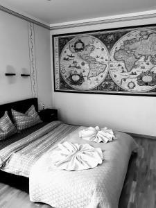 Кровать или кровати в номере TrakaiApartmentsLT
