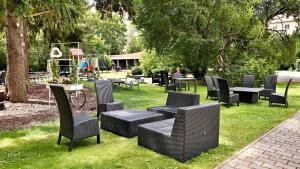 A garden outside Hotel International Prague