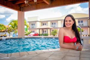 The swimming pool at or near Pearl Aruba Condos