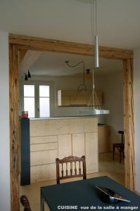 Cuisine ou kitchenette dans l'établissement Appartement du Château d'eau