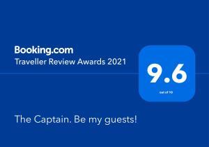 Сертификат, награда, табела или друг документ на показ в The Captain. Be my guests!