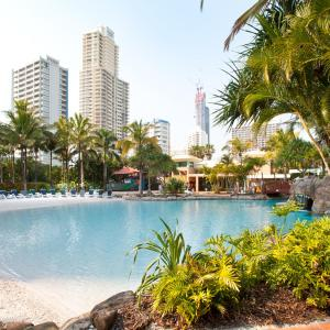 The swimming pool at or near Mantra Crown Towers