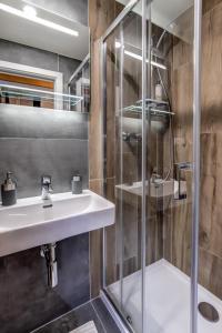 A bathroom at Mini apartmán Miró