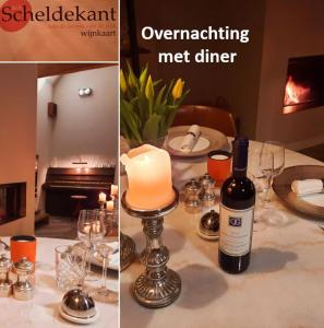 A restaurant or other place to eat at B&B Scheldekant