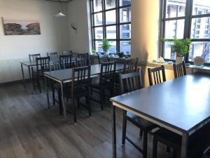 En restaurant eller et andet spisested på Danhostel Sandvig