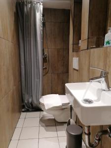 A bathroom at Hotel am Park