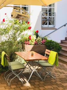 A porch or other outdoor area at Landhotel Weserblick