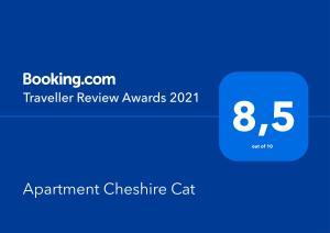 Сертификат, награда, вывеска или другой документ, выставленный в Волшебные апартаменты Чеширский Кот