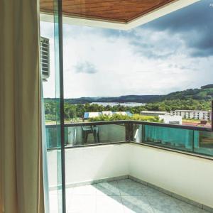 A balcony or terrace at Pratas Thermas Resort