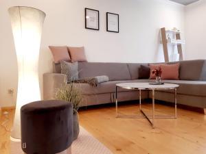 A seating area at Ferienwohnung Familie Schmidt