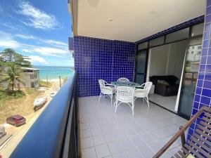 Uma varanda ou terraço em Apartamento 4 qtos c/vista para o mar