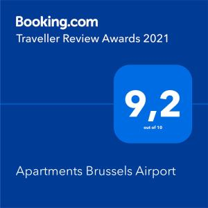 A certificate, award, sign or other document on display at Apartments Brussels Airport