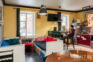 A kitchen or kitchenette at Trinity Hostel & Tours
