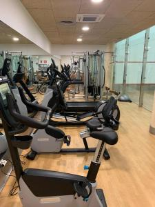 The fitness center and/or fitness facilities at Hotel Suite Villa Maria