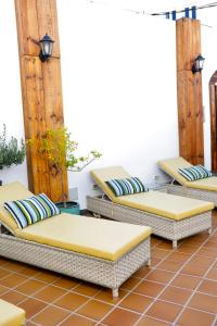 A seating area at El Charco Suites