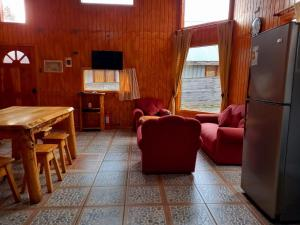 Zona de estar de Cabañas Liquiñe