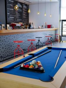 A billiards table at Hampton by Hilton Dubai Al Seef