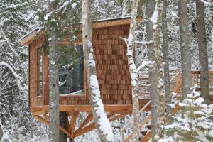 Tiigrisilma Treehouse talvel