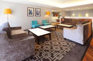 A seating area at Hampton by Hilton Sheffield