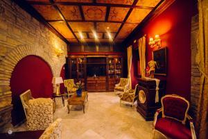 The lobby or reception area at Hacienda Posada de Vallina