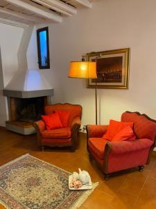 A seating area at Albertina's House in Trastevere