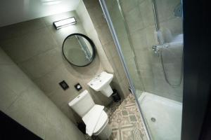 A bathroom at The Duke Rooms London