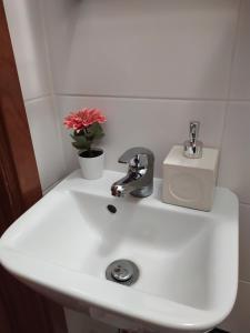 A bathroom at Blue Castle House