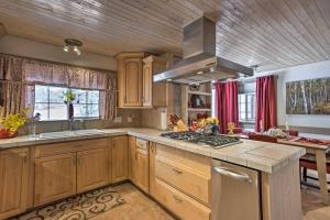 A kitchen or kitchenette at Ouray Home with Patio - 3 Miles to Downtown!