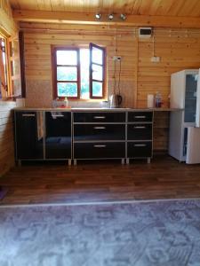 Küche/Küchenzeile in der Unterkunft Nad Drawskim
