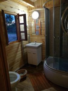Ein Badezimmer in der Unterkunft Nad Drawskim