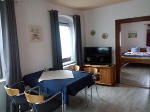 TV/Unterhaltungsangebot in der Unterkunft Ferienwohnung Im Wiesenthal