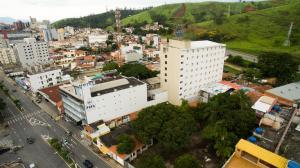 Uma vista aérea de Hotel do Papa